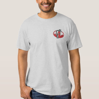Fire Extinguisher Embroidered T-Shirt