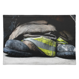 Fire Fighter Boots Placemat