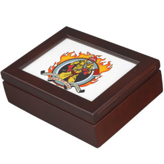 Fire Fighters Fear No Fire Keepsake Box