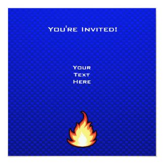 Fire Flame; Blue Card