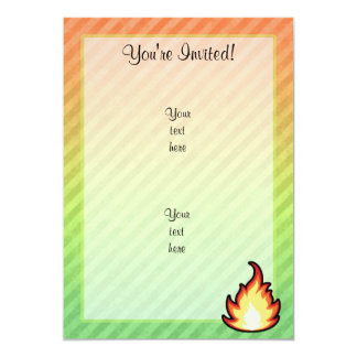 Fire Flame design Card