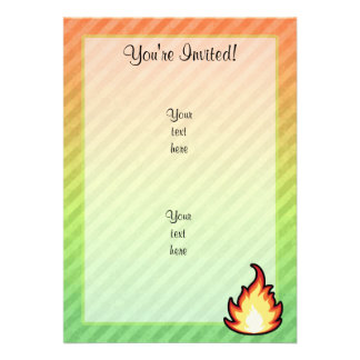 Fire Flame design Invites