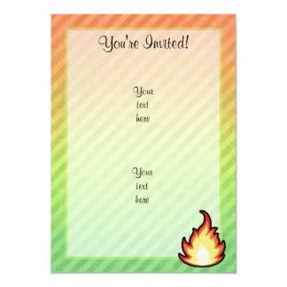 "Fire Flame design 5"" X 7"" Invitation Card"