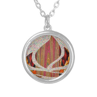 FIRE Flame symbol of SOUL POWER gifts fun festival Round Pendant Necklace
