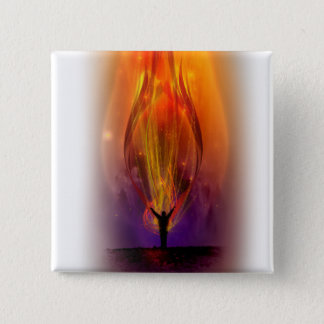 """Fire from Heaven"" Flair 15 Cm Square Badge"