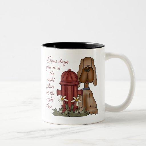 Fire Hydrant Dog Mug