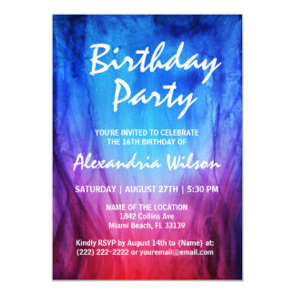 Fire & Ice Birthday Invitations | Blue Red Flames