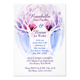 Fire & Ice Wedding Invitations - Crystal Tree