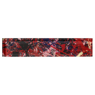 FIRE IN THE SKY (an abstract art design) ~ Name Plate