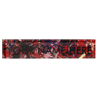 FIRE IN THE SKY (an abstract art design) ~ Nameplate