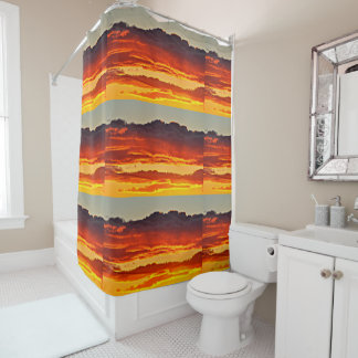 Fire In the Sky  Bathroom Shower Curtain