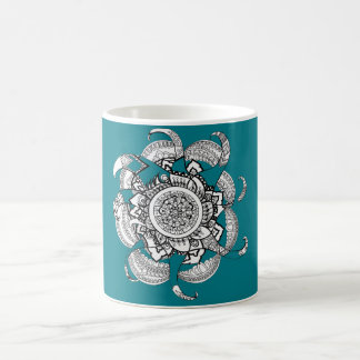 Fire mandala coffee mug