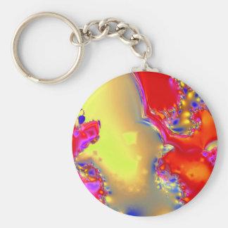 Fire Opal Key Ring