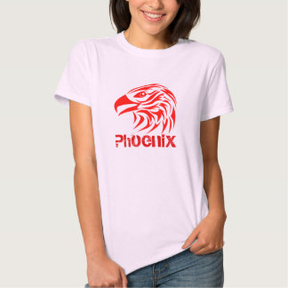 Fire Phoenix (F, w/ Text, Color Option) Tee Shirts