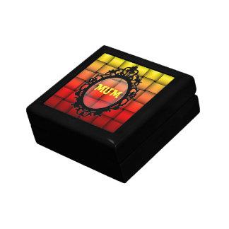 Fire Plaid Happy Birthday Gift Box