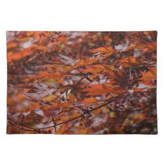 Fire Red Maple Branches Placemat