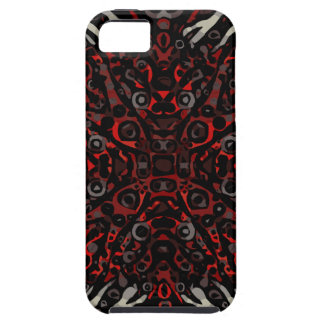 Fire Red Zebra Abstract Pattern iPhone 5 Cover