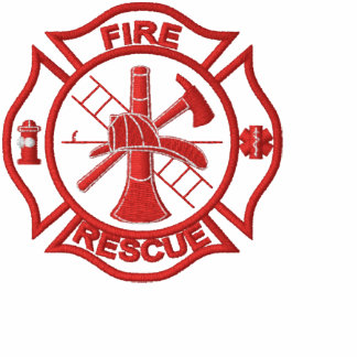 Fire Rescue Embroidered Polo Shirt