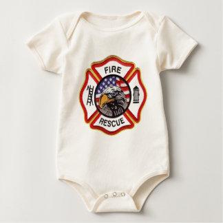Fire Rescue Maltese Cross Baby Bodysuit
