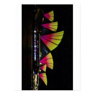 Fire Sails - Sydney Vivid Festival - Sydney Opera Postcard