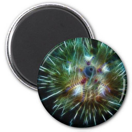 Fire Sea Urchin Fridge Magnet