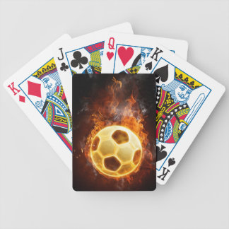Fire Soccer Ball Bicycle Poker Deck