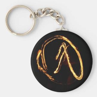 fire staff trick basic round button key ring