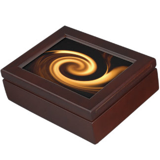 Fire Swirl Keepsake Box