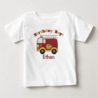 Fire Truck Birthday Kids Personalized Baby T-Shirt