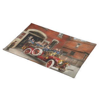 Fire Truck - The flying squadron 1911 Placemat