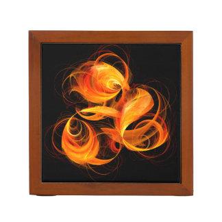 Fireball Abstract Art Desk Organiser
