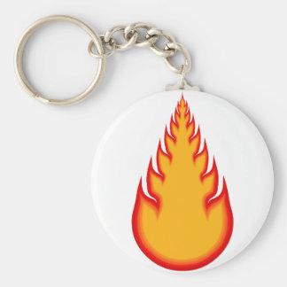 Fireball Graphics: Fire Ball: Flames Basic Round Button Key Ring