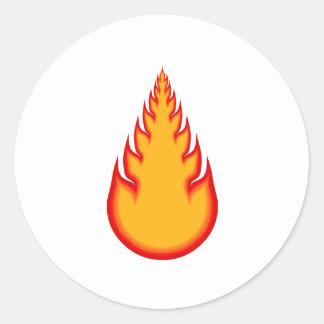 Fireball Graphics: Fire Ball: Flames Round Sticker