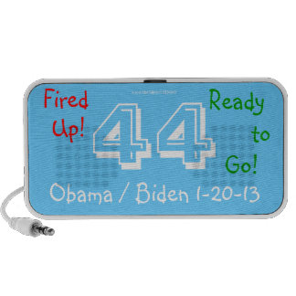 Fired Up! Obama 44 Biden 3D Fired Up! Ready to GO! Speaker System