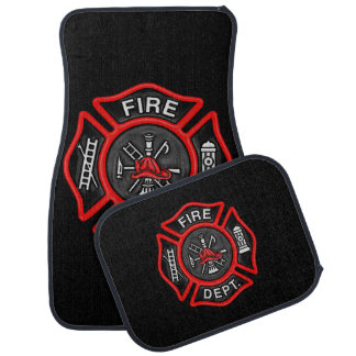 Firefighter/Fire Department Badge Fireman Car Mat