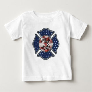 Firefighter Patriotic Maltese Cross Baby T-Shirt