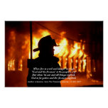 Firefighter Quote Poster