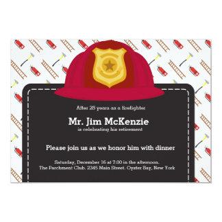 Firefighter retirement card
