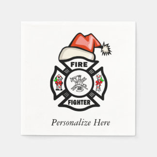 Firefighter Santa Paper Napkins