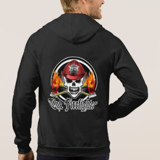 Firefighter Skull 2 and Flaming Axes Hoodie