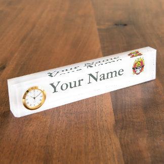 Firefighter Skull Name Plate