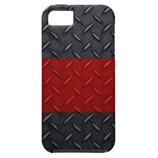 Firefighter Thin Red Line Diamond Plate iPhone 5 Cover