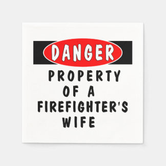 Firefighter Wife Disposable Serviettes