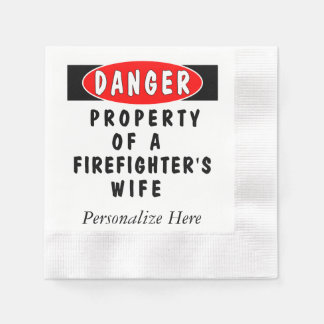 Firefighter Wife Disposable Serviette