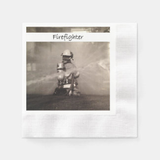 Firefighters At Work Paper Napkins