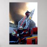 Firefighters Climbing Ladder Print