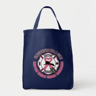 Firefighters For A Cure Breast Cancer Grocery Tote Bag