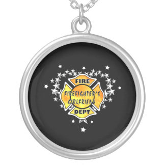 Firefighters Girlfriend Tattoo Silver Plated Necklace