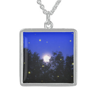 Firefly Glow Bug Sterling Silver Necklace