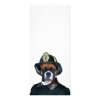 Fireman Boxer Dog Customized Rack Card